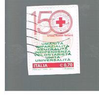 ITALIA REPUBBLICA  -   2014   -  CROCE ROSSA ITALIANA      USATO  ° - 6. 1946-.. Repubblica