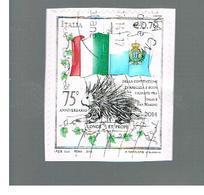 ITALIA REPUBBLICA  -   2014   -  CONVENZIONE CON SAN MARINO        -   USATO  ° - 6. 1946-.. Repubblica
