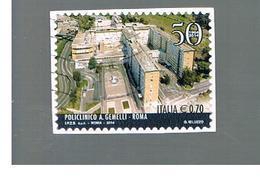 ITALIA REPUBBLICA  -   2014   -   POLICLINICO GEMELLI. ROMA    -   USATO  ° - 6. 1946-.. Repubblica