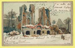 * Villers La Ville (Waals Brabant - Wallonie) * (Louis Titz) Ruines De L'abbaye De Villers, Façade De L'église, Neige - Villers-la-Ville