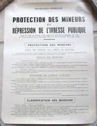 1978 . PROTECTION DES MINEURS ET REPRESSION DE L IVRESSE PUBLIQUE - Autres Collections