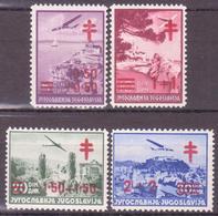 YUGOSLAVIA - JUGOSLAVIJA - 1940 - AIRMAIL,TBC  - Mi. 429-432*  MVLH  VF - 1931-1941 Royaume De Yougoslavie