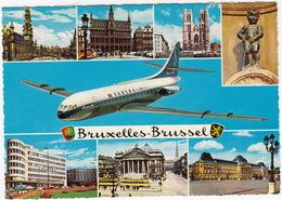 Un Bonjour De Bruxelles :  SUD AVIATION SE 210 CARAVELLE 'SABENA'  - AVION / AIRPLANE / VLIEGTUIG - Brussel - België