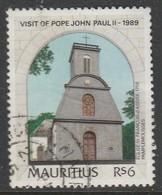Mauritius 1989 Visit Of Pope John Paul II 6rs Multicoloured SW 709 O Used - Mauritius (1968-...)