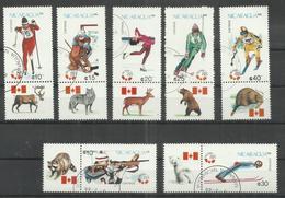 """Nicaragua 2843-49, """"7 Briefmarken Zur Winter-Oly Calgary'88, Satz Kpl."""" Gestempelt: 3,00 - Nicaragua"""