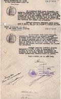 VP12.547 - 2 Actes De 1943 Concernat La Société D'Etudes ¨ Union Electrique Des Alpes ¨ - Electricity & Gas