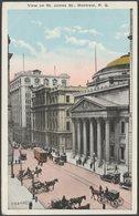 View On St James Street, Montreal, Quebec, C.1920s - Valentine's Postcard - Montreal