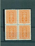Österreich, Symbol, Viererblock Nr. 393, Postfrisch ** - Ungebraucht