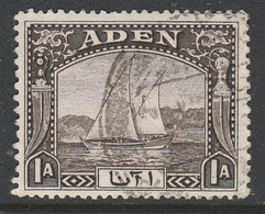 Aden/Yemen 1937 Daily Stamps 1A Blackish Brown SW 3 O Used - Yémen