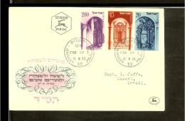 1953 - Israel FDC Mi. 89-91 - Jewish New Year 5714 [D05_05] - FDC