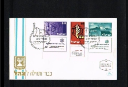1967 - Israel FDC Mi. 390-392 - Transport - Ships & Boats [JD031] - FDC