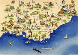 PROVENCE COMTE DE NICE(BARRE  DAYEZ) - Maps