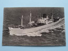 "M.S. "" MODJOKERTO "" Copyright Koninklijke Rotterdamsche Lloyd () Anno 19?? ( Gekleefd Geweest / Details Zie Foto's ) ! - Ferries"