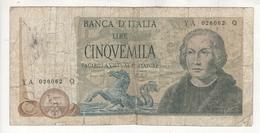 Italie : 5000 Lires Du 11/4/73. Pick # 102b. VG - 5000 Lire