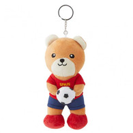 FIFA WORLD CUP 2018 - SPAIN 17cm SOFT TEDDYBEAR MASCOT WITH KEY-RING - BIG C THAILAND LIMITED ISSUE - Apparel, Souvenirs & Other