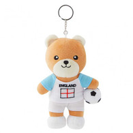 FIFA WORLD CUP 2018 - ENGLAND 17cm SOFT TEDDYBEAR MASCOT WITH KEY-RING - BIG C THAILAND LIMITED ISSUE - Apparel, Souvenirs & Other