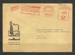 BRD - TEXTILE  - INTERESTING METTER COVER Sent To BULGARIA  ! - D 2496 - Textile