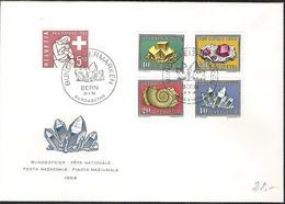 Schweiz Suisse 1958: Zu Pro Patria 86-90 Mi 657-661 Yv 606-610 FDC Blanko Mit ET-o BERN 31.V.58 (Zumstein CHF 40.00) - Minéraux