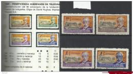 5158-SERIE COMPLETA AÑO 1945 30/33. BENEFICOS  75,00€, HUERFANOS CUERPO TELEGRAFOS ESPAÑA SAMUEL MORSE 90 ANIVERSARIO D - Collezioni