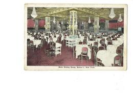Cpa - Main Dining-Room, Rector's Restaurant, New York - Salle à Manger Restaurant - Lustre - Cafés, Hôtels & Restaurants