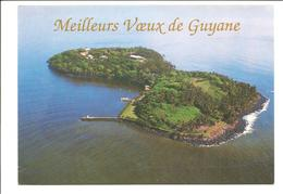 CPSM Meilleurs Voeux De Guyane . Iles Du Salut Vue Aérienne De Royale - Guyane