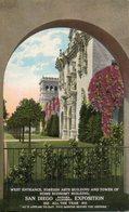 Etats Unis. West Entrance, Foreign Arts Building. San Diego - San Diego
