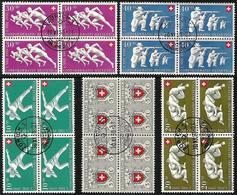 Schweiz Suisse Pro Patria 1950: Zu 46-50 Mi 545-549 Yv 497-501 Im Block Mit O ZÜRICH 30.XI.50 (Zu CHF 300.00) - Pro Patria
