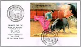 CURRO ROMERO. Torero - Bullfighter. SPD/FDC. Sevilla, Andalucia, 2001 - Fiestas