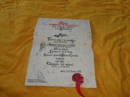 MENU DE 1976. / SOCIETE EUROPEENNE DE BRASSERIES DINER COSTUME ET DANSANT A LA CONCIERGERIE. TRAITEUR SCOTT PARIS - Menus