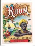 Etiquette   Rhum  Garanti Naturel - Léopold Lefèvre à Vendhuile - - Rhum