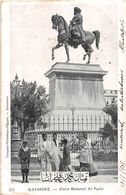 ¤¤  -  EGYPTE   -  ALEXANDRIE   -   Statue De Mahamed Aly Pacha  -  ¤¤ - Alexandria