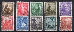 1938 Regno Proclam Impero N. 439 -448 Timbrata Used Serie Completa Sassone 135 € - 1900-44 Victor Emmanuel III
