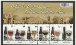 4195/4200** Blok 197** 6 Belgische Trappistenbieren - Feuille Les 6 Bières Trappistes Belges MNH - Blokken 1962-....