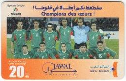 MAROC A-262 Prepaid Telecom - Sport, Soccer, National Team - Used - Morocco