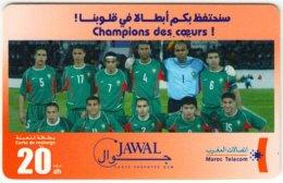 MAROC A-263 Prepaid Telecom - Sport, Soccer, National Team - Used - Morocco