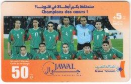 MAROC A-264 Prepaid Telecom - Sport, Soccer, National Team - Used - Morocco