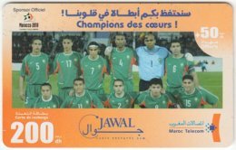 MAROC A-265 Prepaid Telecom - Sport, Soccer, National Team - Used - Morocco