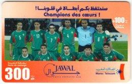 MAROC A-266 Prepaid Telecom - Sport, Soccer, National Team - Used - Morocco