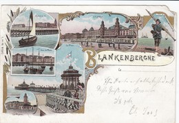 BLANKENBERGE / LITHO KAART  1897  / PRECURSEUR - Blankenberge