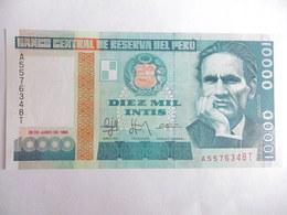 PEROU-BILLET DE 10000 INTIS-1988-NEUF/UNC - Pérou