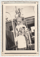 "Yugoslav Royal Navy Sailors On Boat - Old Photo Signed ""trip Metkovic - Split 1937"" Bb180625 - Oorlog, Militair"