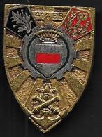 414e Bataillon Des Services - Insigne émaillé Drago 1892 - Armée De Terre