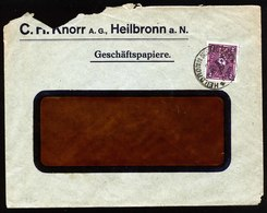 A5564) DR Infla Brief Heilbronn 22.5.22 Mit Perfin K (Knorr) - Deutschland