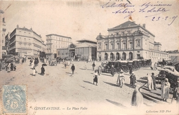 ¤¤  -  ALGERIE   -   CONSTANTINE   -  La Place Valée   - Les Halles     -  ¤¤ - Constantine