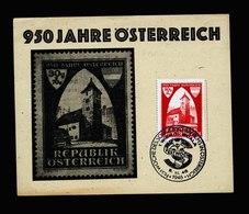 A5565) Österreich Austria Sonderkarte 950 J. Österreich 1946 - 1945-60 Briefe U. Dokumente