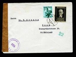 A5566) Österreich Austria Brief Wien 28.7.51 N. Germany - 1945-.... 2. Republik