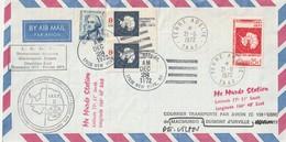 TAAF -  Expedition 1972  Murdo Station F Affranchissement Mixte TAAF USA Et France Signé P.E Victor RRR - Cartas