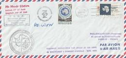 TAAF -  Expedition 1972 1973   Murdo Station F Affranchissement Mixte  USA Et Russe  Signé P.E Victor RRR - Terre Australi E Antartiche Francesi (TAAF)