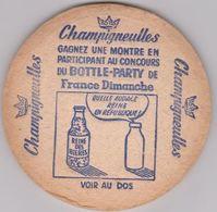 Ancien Sous Bock De Biere Française De La Brasserie Champigneulles Recto/verso - Sous-bocks