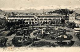 Santiago, Plaza Armas, Cerro Santa Lucia - Chili